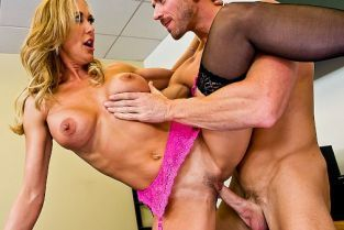 Johnny Sins, Brandi Love Evaluation Ejaculation [Best of Brazzers]