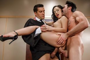 Ramon Nomar, Kristina Rose, Charles Dera Judge, Jury, And Double Penetrator [Best of Brazzers]