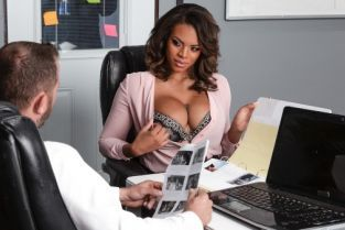 Scott Nails, Halle Hayes Working Late [Best of Brazzers]