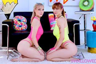 Swallowed - Angel Youngs, Jamie Jet Jamie and Angel Gobble Up That Dick