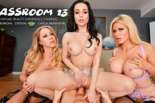 ClassRoom - Casca Akashova, Crystal Rush, Katie Morgan MILF Professors Casca Akashova, Crystal Rush, and Katie Morgan motivate a struggling student with their big huge tits and wet pussies