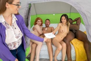 Lulu Chu, Annabel Redd Tag Teaming The Glampers BrazzersExxtra