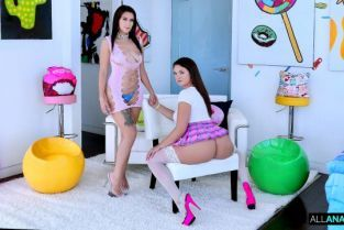 AllAnal - Indica Monroe, Nicole Sage Buttfuck & Suck Frenzy With Nicole And Indica
