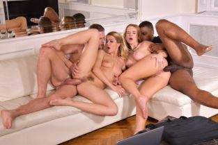 PornWorld - Cherry Kiss, Kaisa Nord Interracial DP Foursome With Cheating Husband and Wife and Their Fuck Buddies GP2061