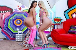 Nympho - Lilly Bell, Kylie Rocket Have 2 On 1 Fun
