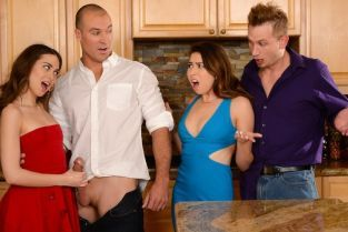 Sean Lawless, Riley Reid, Bill Bailey, Melissa Moore Dinner For Sluts [Best of Brazzers]