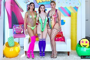 AllAnal - Lenna Lux, Angelica Cruz, Jeyla Spice Anal BFF Trio In Action!