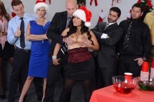 Johnny Sins, Jessica Bangkok Office Christmas Party [Best of Brazzers]