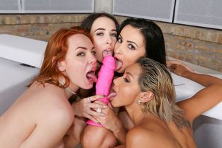 EvilAngel - Alyssia Kent, Candy Red, Nata Ocean, Veronica Leal Pure Neon: House Party!