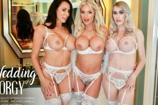 NaughtyWeddings - Katie Monroe, Rachael Cavalli, Reagan Foxx Rachael Cavalli surprises her bridesmaids, Katie Monroe and Reagan Foxx, with the sexy stripper from the bachelorette party