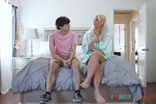 FamilyHookups - London River Busty blonde milf London River fucks her horny stepson while dad is away!