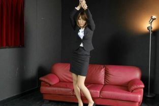 NewOfficeLady - Miina Minamoto Miina Minamoto is tied up in her office uniform for us to play with